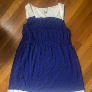 Cute blue and white Loft dress!  EUC!